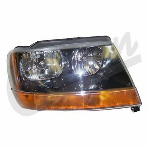 Headlight Right Side Jeep Grand Cherokee Wj 1999 2004 55155128ab Crown