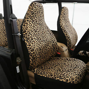 Leopard Print Car Seat Covers Airbag Leopard