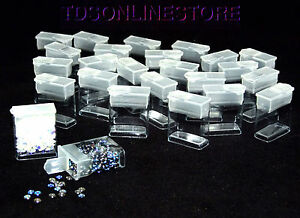 Rectangle Clear Plastic Storage Tubes With Flip Tops 1 25 Pack Of 100