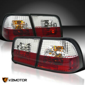 Red Clear For 1995 1996 Nissan Maxima Gle Gxe Tail Lights Brake Lamps Pair