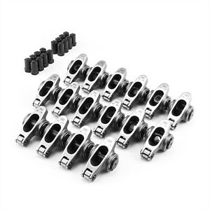 Fit Chevy Sbc 350 1 60 Ratio 3 8 Stainless Steel Roller Rocker Arm Set
