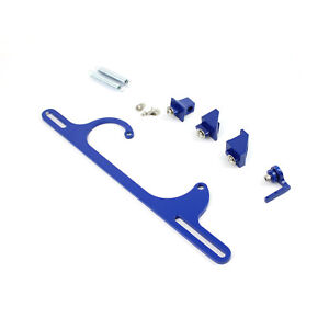 Carburetor Throttle Cable Bracket Kit W Return Springs Billet Blue