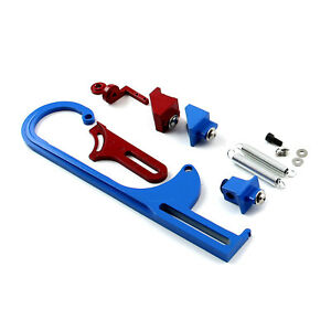 Carburetor Throttle Cable Bracket Kit Red Blue W Return Springs And Mount