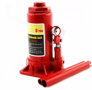 8 Ton Hydraulic Bottle Jack Stand Automotive Shop Equipment Car Truck Heavy Duty