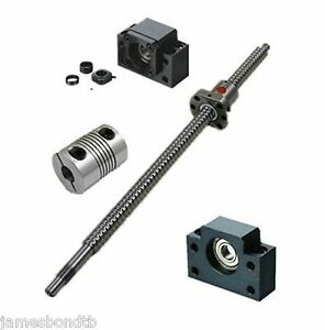 1set Sfu1204 Series Ball Screw From L200mm To L850mm With Single Ballnut For Cnc