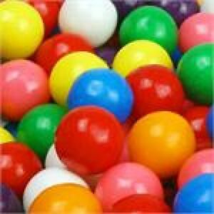 1 Lb One Pound Dubble Bubble 1 2 Half Inch 15mm Gumballs Bulk Candy Goody Bags