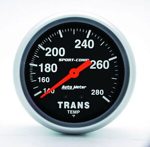 Auto Meter Sport Comp Transmission Temperature 2 5 8 Trans Temp Gauge