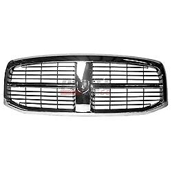 Front Grille Chrome Black Fits 2006 2009 Dodge Ram 2500 55077767ae