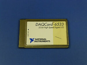 National Instruments Daqcard 6533 Pcmcia Ni Daq Card Digitial I o