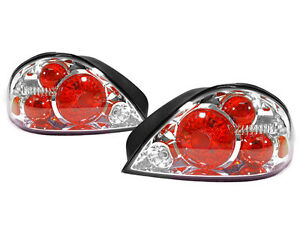 Depo Altezza Style Crystal Chrome Rear Tail Light For 1999 2005 Pontiac Grand Am