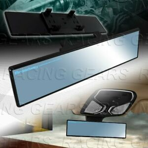 Universal Blue Broadway 300mm Wide Flat Tinted Interior Clip On Rear View Mirror