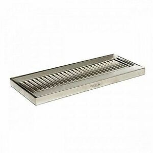 Stainless Steel Drip Tray Surface Mount 12 X 5 No Drain Surface Mount Beer