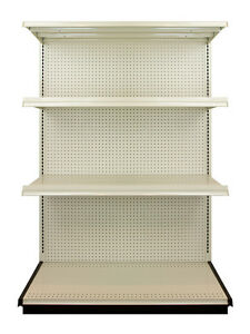 Lozier Heavy Duty Commercial Industrial Retail Shelving 4 Foot Shelf Section