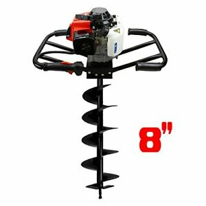 3hp 63cc Epa Gas Earth 2 Man Post Hole Digger 2 Person Machine 8 Auger Bit