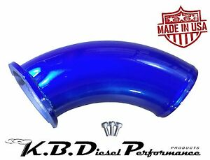 Kbdp Candy Blue Turbo Air Intake Elbow Inlet Horn Chevy Gmc 6 6l Duramax Lb7