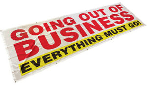 3x10 Ft Going Out Of Business Banner Sign Polyester Fabric Wb