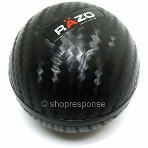 Razo Ra136 Carbon Fiber Look Shift Knob Round Ball Type 240g Heavy Weighted Jdm