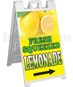 Signicade A frame Sign Sidewalk Sandwich Pavement Sign Fresh Squeezed Lemonade