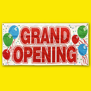 2x4 Ft Grand Opening Banner Sign Store Sale Retail Polyester Fabric Wb