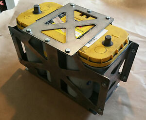 Optima D31a Battery Box Mount Tray Yellow Red Top Tray Offroad Rock