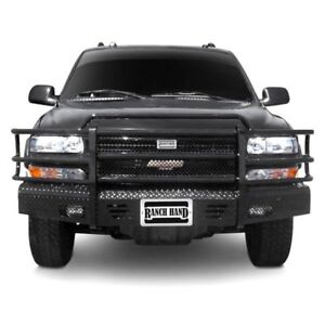 For Chevy Suburban 2500 00 06 Bumper Summit Series Full Width Tough Black Front