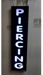 Piercing Sign led Light Box Sign White Color 12x48x1 75 Inc