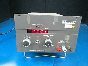 Lambda Regulated Power Supply Output 0 60v Model Lq 533 Sn L89191 47 63hz