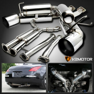 For 03 09 Nissan 350z Z33 Fairlady Z Stainless Dual Catback Exhaust