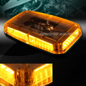 Led Amber 8 modes Roof Top Emergency Hazard Warning Flash Strobe Light Universal