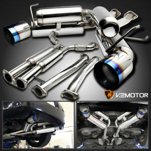 For 03 09 Nissan 350z Z33 Fairlady Z Dual Catback Exhaust System Burnt Tip