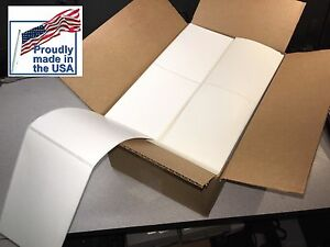 4 X 6 Thermal Shipping Fanfold 4000 Labels Zebra Printer Made In The Usa
