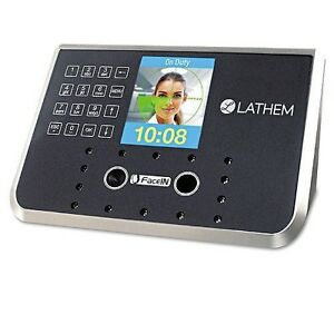 Lathem Time Face Recognition Time Clock System