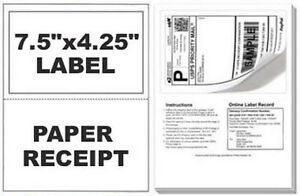 700 Self Adhesive Mailing Shipping Labels W Tear Off Paper Receipt Paypal