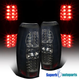 2007 2012 Chevy Avalanche Smoke Lens Led Brake Tail Lights