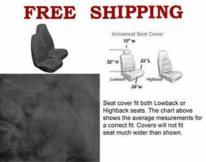 New 2 Front Synthetic Sheep Skin Sheepskin Car Truck Seat Cover Gray Smoke