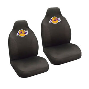 Brand New Nba Los Angeles Lakers Car Truck 2 Front High Back Bucket Seat Covers