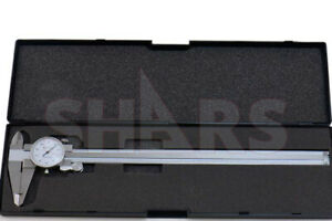 Shars 12 Dial Caliper 001 Shock Proof Stainless 4 Way Inspection Report R