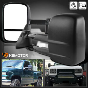For 88 98 Chevy Gmc C K 1500 2500 3500 Tahoe Manual Towing Tow Side Mirrors Pair