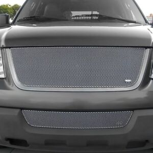 2 Pc Mx Series Silver Powder Coated Fine Mesh Main And Bumper Grille Kit