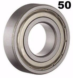 Fifty 50 R8zz Bearings 1 2 X 1 1 8 X 5 16 In Ball Bearings Pre lubricated