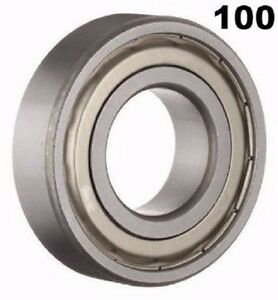 100 Pcs R8zz Shielded Bearings 1 2x1 1 8 X 5 16in Ball Bearings Pre lubricated