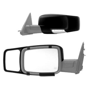 For Dodge Ram 1500 09 10 Driver Passenger Side Towing Mirrors Extension Set