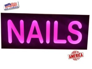 Nails Sign led Light Box Sign manicure pedicure Sign