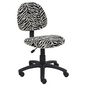 Zebra Print Microfiber Deluxe Posture Chair Boss Office Products