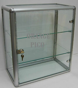 Locking Counter Top Glass Display Case W Swing Door Allegro