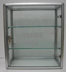 Countertop Glass Display Showcase W Swing Door Lock
