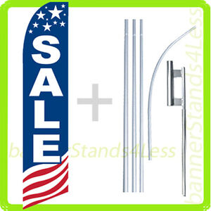 Sale Swooper Flag Kit Feather Flutter Banner Sign 15 Tall Usa Bb