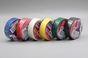 6 Colors 3m 1500 Vinyl Electrical Tape Insulating Tape High Quality