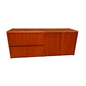 Carmel Furniture Waterfall Series Lateral File And Doors Credenza Desk