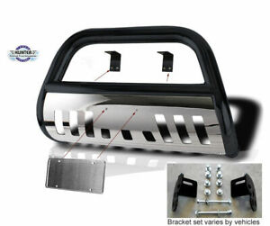2000 2006 Chevy Tahoe Hunter Classic Bumper Guard Bull Bar In Black W Ss Skid